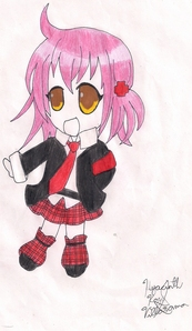 Hinamori Amu from Shugo Chara! this is not the best one the best is a made up character