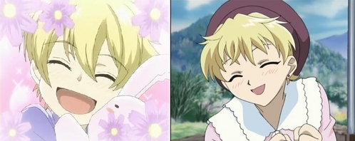 Honey (ouran highschool host club) and Momiji (fruit basket) ;3