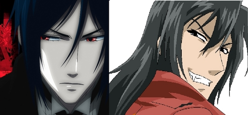 Sebastian Michealis from black butler and Jiro Mochizuki from Black Blood Brothers XD