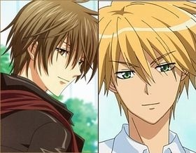 Kei Takishima and Usui Takumi. -They both can make incredible things without hurting themselves (Usui jumping from the roof and Kei can even make a lion fear him, see episode 7). -They are in Amore with a girl who at first hates them but later returns their feelings. -Both are rich and they fell in Amore with a girl who isn't.
