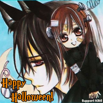 It's Kaname and Yuuki from Vampire Knight ! SOOO KAWAII