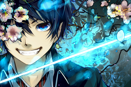 Rin from Ao no Exorcist Thats what I call Blue Eyes
