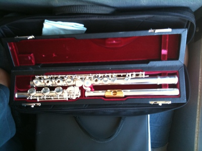 Oui, madame... AHEM!!... I play the flute!! ^-^ (Actually is my friend's flute but she took a pic of it with meh camera phone X3)
