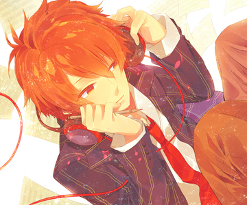 Wow, I प्यार your guy's eyes! >///< my **current** crush (LOL) would have to be Ittoki Otoya from Uta no Prince-sama (pic) ^_^ my first ऐनीमे crush was definitely Abarai Renji though (got a thing for red haired bishies)
