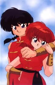 when splashed with cold water Ranma can become a girl but hot water will reverse the affect