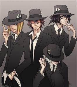 L,Near,Mello & Matt from Death Note<3