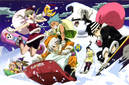 Soul Eater X-mas!! I think that Kid looks so cool in this photo!!
