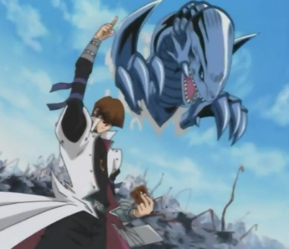 <b>Mr.Kaiba and his Blue eyes white dragon!^^</b>