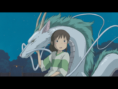 Chihiro and dragon Haku from Spirited Away