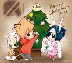 this one from me :) x-mas scene from KHR ^^ kawaii >w<