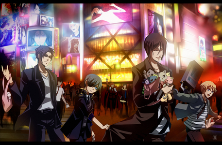 This one. It's the black butler characters in Ikebukuro(From DuRaRaRa!!) If आप look closely, आप can see Shizuo and Izaya in the background. XD