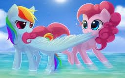 I would be either радуга dash или Pinkie Pie.I say this because i like to run fast and if i had wings like радуга dash then i would be fast like her plus i am a tomboy.And yes i Любовь to party with Друзья like pinkie pie and sometimes i like to hop around like her if i am happyXD