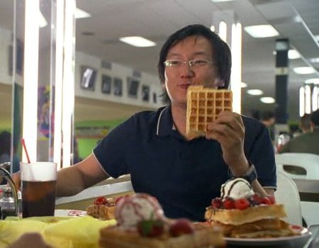 WAFFLES. Stare a the waffle. SERIOUSLY. It looks so thick... and... and.... I CANT EVEN!!! :DSKHJFSDHFKJH