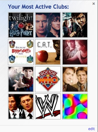 -Harry Potter vs. Twilight -Supernatural -Harry Potter -Biggerstaff Family -Critical Analysis of Twilight -Romione -Merlin -Doctor Who -Fred and George Weasley -The Winchesters -WWE -Random
