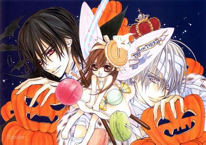 Vampire knight. Kaname, Yuki, Zero. a halloween with vampires!!!