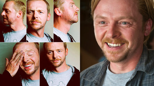 So he may not be the guy all girls drool over, but Simon Pegg really has something about him.... I guess it could be the fact he has gorgeous eyes & a really nice smile, as that is what I find attractive in a guy... Either way, I'm completely under his spell right now... <3