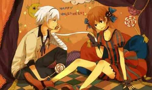 soul and maka HAPPY HALLOWEEN!