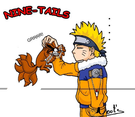 Naruto and the nine tailed volpe XD
