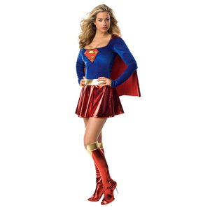 Really typical but Supergirl. 'Cause I can really pull off the costume.