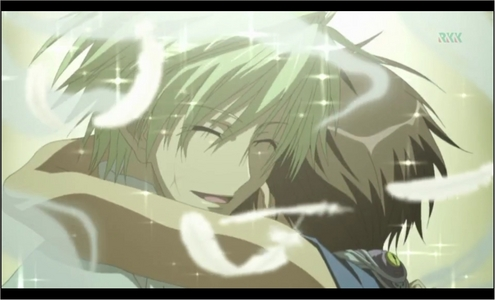 this is when mikage (from 07-Ghost)passed away. he's the first people who trust teito and Cinta him. but he must pass away because he don't want teito hurted sejak ayanami(he is the most heated character sejak me)