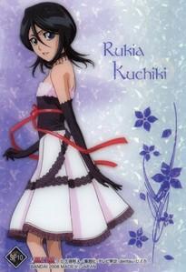 Here's Rukia from Bleach in a cute dress!