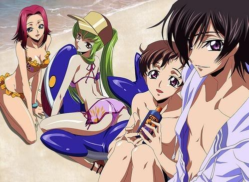 <b>Here's one with some of the Code Geass characters at the Beach!^^</b>