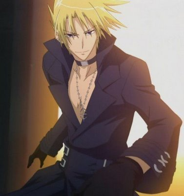 I am currently in प्यार with Rin Okumura from Ao no Exorcist but I'm not posting his pic cause too many people already did and if I पोस्टेड my other crush from the same ऐनीमे I'm afraid आप would judge so I'm gonna post Frau from 07 Ghost:P