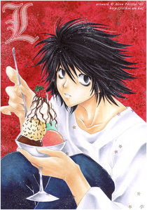 black pants, white/blue socks and an এল-মৃত্যু পত্র from death note t-shirt