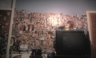 I collect pictures/posters for my room!:) Thats my room Стена below!hehe..