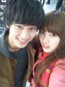 Suzy and Soohyun <3 Hyemi and Samdong :P <3<3<3