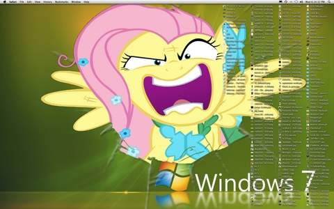 Fluttershy... she lives in my computer...