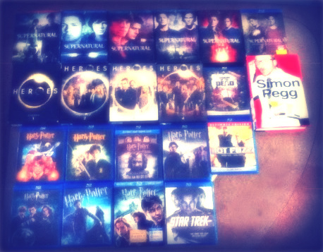 I have a lot of Harry Potter merchandise--movies, books, clothes, bookmarks, bags, pens, lanyard, tickets, etc. I also collect DVDs and Blu-Rays of my পছন্দ shows/movies. This is a collection of my পছন্দ things <3