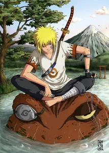 Naruto is blond and so is his daddy :) Minato