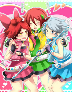 Inazuma eleven in PPGZ oufits