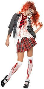 OVER. ASKED. QUESTION. And I'm going as a zombie schoolgirl, thanks.