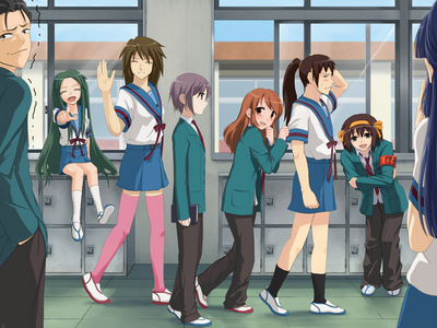 LOLz Suzumiya~ Looks like they all lost a bet ~.~