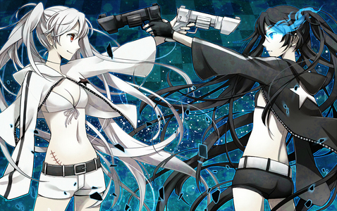 heres one of them. black rock shooter and white rock shooter