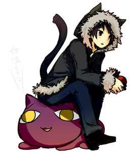 Izaya from Durarara !! As a neko! Cute, hu??!!