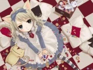 Alice in wonderland, Neko style lol