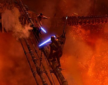 <3 The deep and intricate underpinnings of this epic, climatic battle between Obi-Wan and Anakin in звезда Wars Episode III: Revenge of the Sith make this фото a Избранное of mine!!! : )