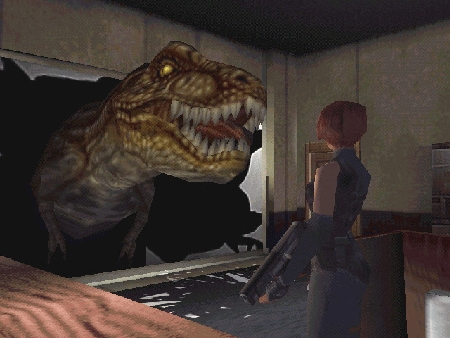 0. Clone a Tyrannosaurus Rex and have it attack the zombies.