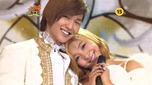 Onew and Luna <3