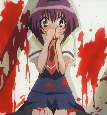 Karin from Chibi Vampire and her bloody nose!