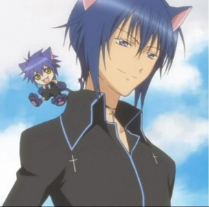 Ikuto and Yoru from Shugo Chara I think yoru is a cat so is this ok?