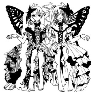 Its 粉丝 art but think its cute I fought there name but I know its from XxxHolic