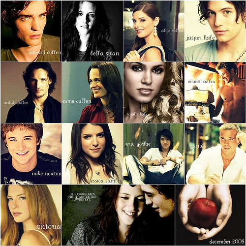 My order of fave characters: 1.Edward -I just upendo him to death 2.Bella -she is loved, but only a bit less 3.Alice -she's cool an an awesome friend 4.Carlisle -caring and understanding doctor 5.Jacob- I don't particularly like him cause of his rash and stupid decisions, but there's something about his personalily that I and Stephenie both like.. 6.Jasper- something I like about his composure... 7.Emmett- He's so funny when he teases Bella in BD 8.Esme- she's great and all, but... 9.Rosalie- i get she's gotten a lot taken from her, but that's no reason to be a ( wewe fill in the blank...lol)