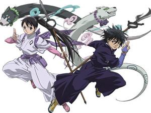 Her is Tokine with Hakubi and Yoshimori with Madarao.From Kekkashi.