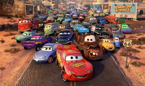 The ディズニー Pixar`s film Cars! (and Cars 2!) :D Yeah, I 愛 cartoons! AND this film... I know everything about it! :D Im obbssesed with Cars (2) merchandise! XD