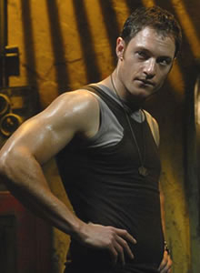I think we all have. I'm pretty sure my first crush, real or fictional, was Rod Serling. Since then, I've had a lot of fictional crushes, but my husband is, and always will be, Helo from Battlestar Galactica.