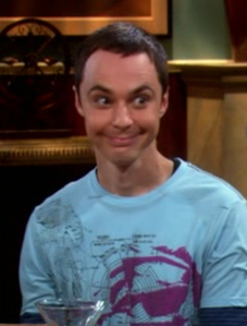 Dr. Sheldon Cooper on my lap? That's The Dream... =w= XD